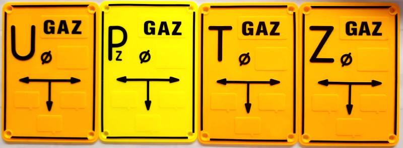 tabliczki oznaczeniowe do gazu