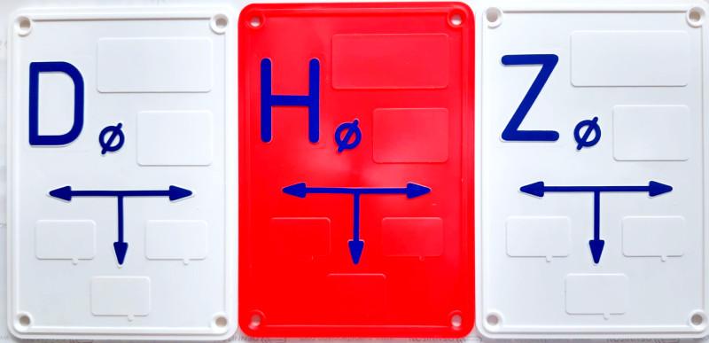 tabliczki oznaczeniowe do wody